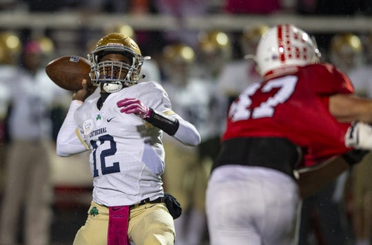 Cathedral junior Orin Edwards has passed for 1,946 yards and 17 touchdowns this season.