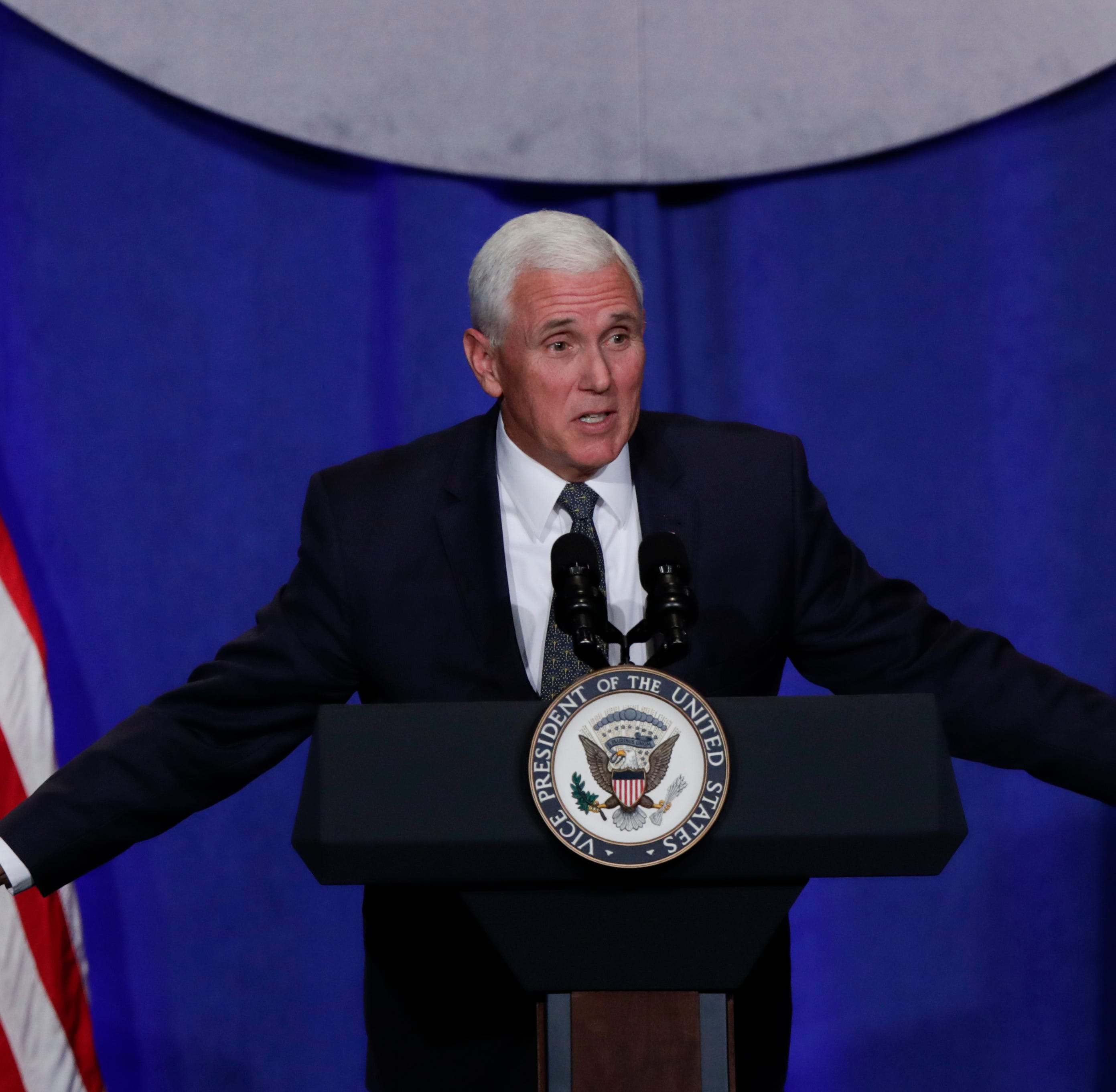 Pence implores Hoosiers to vote for Braun, help with Hurricane Michael relief