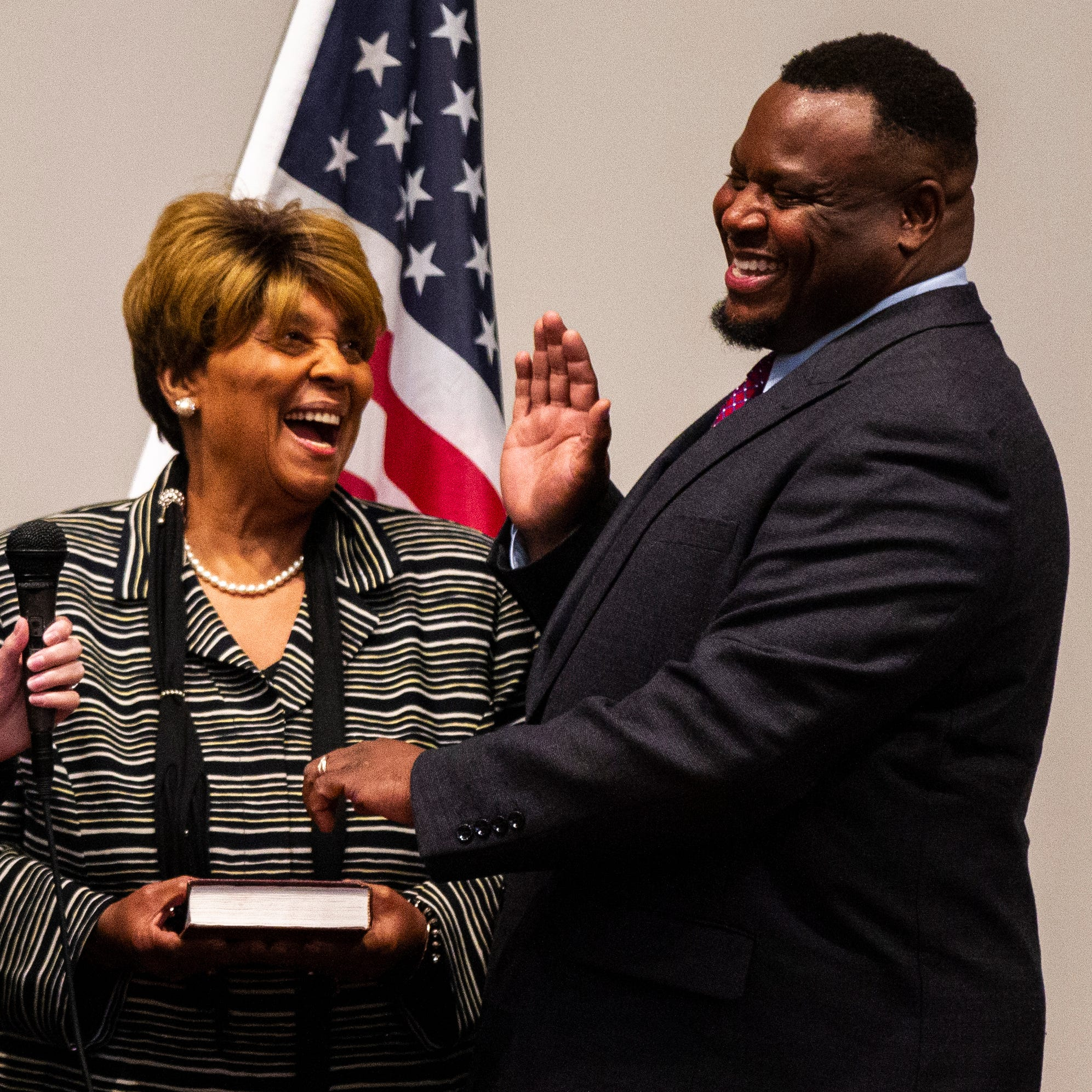 'You've got that name': Teague takes the oath of office
