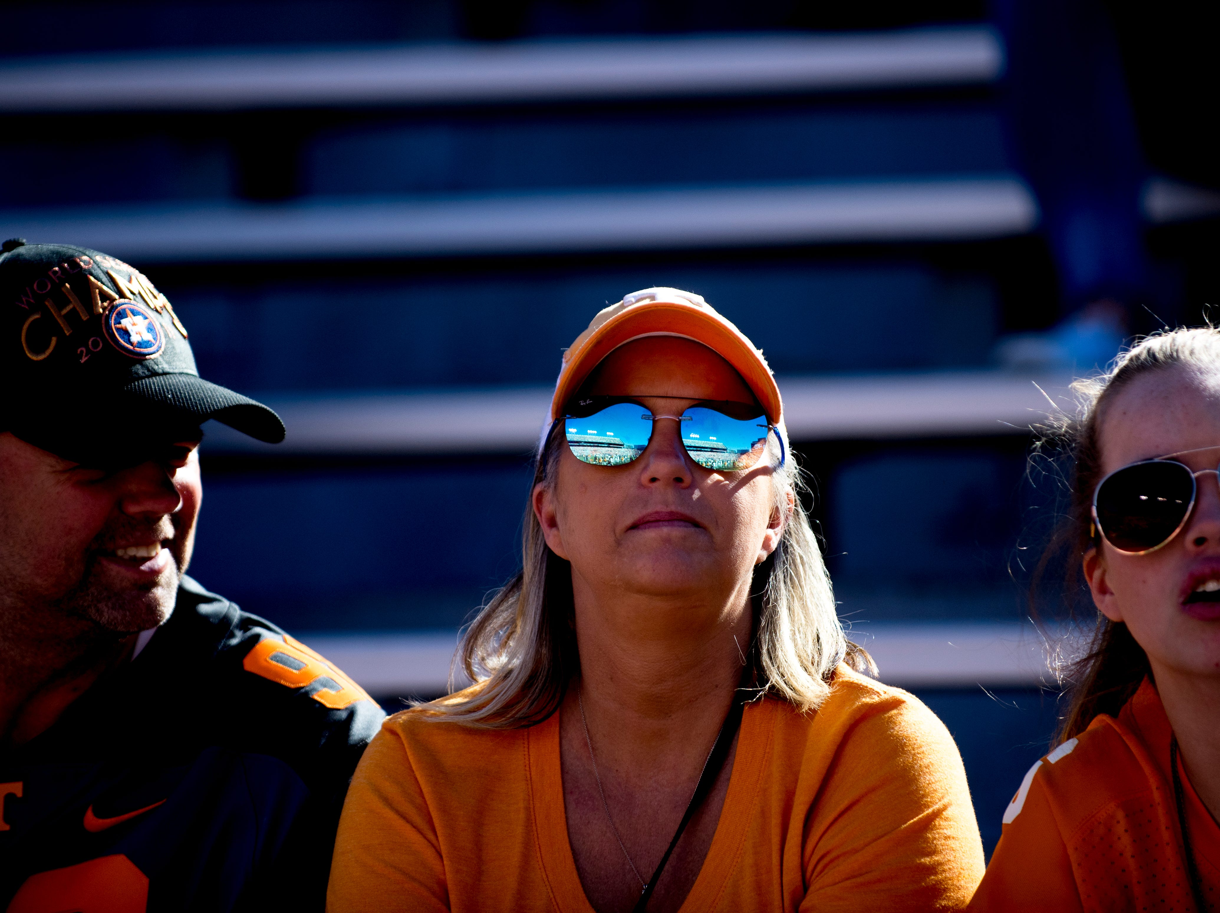 Tennessee fans sit in the stands during a game between Tennessee and Auburn at Jordan-Hare Stadium in Auburn, Alabama on Saturday, October 13, 2018.