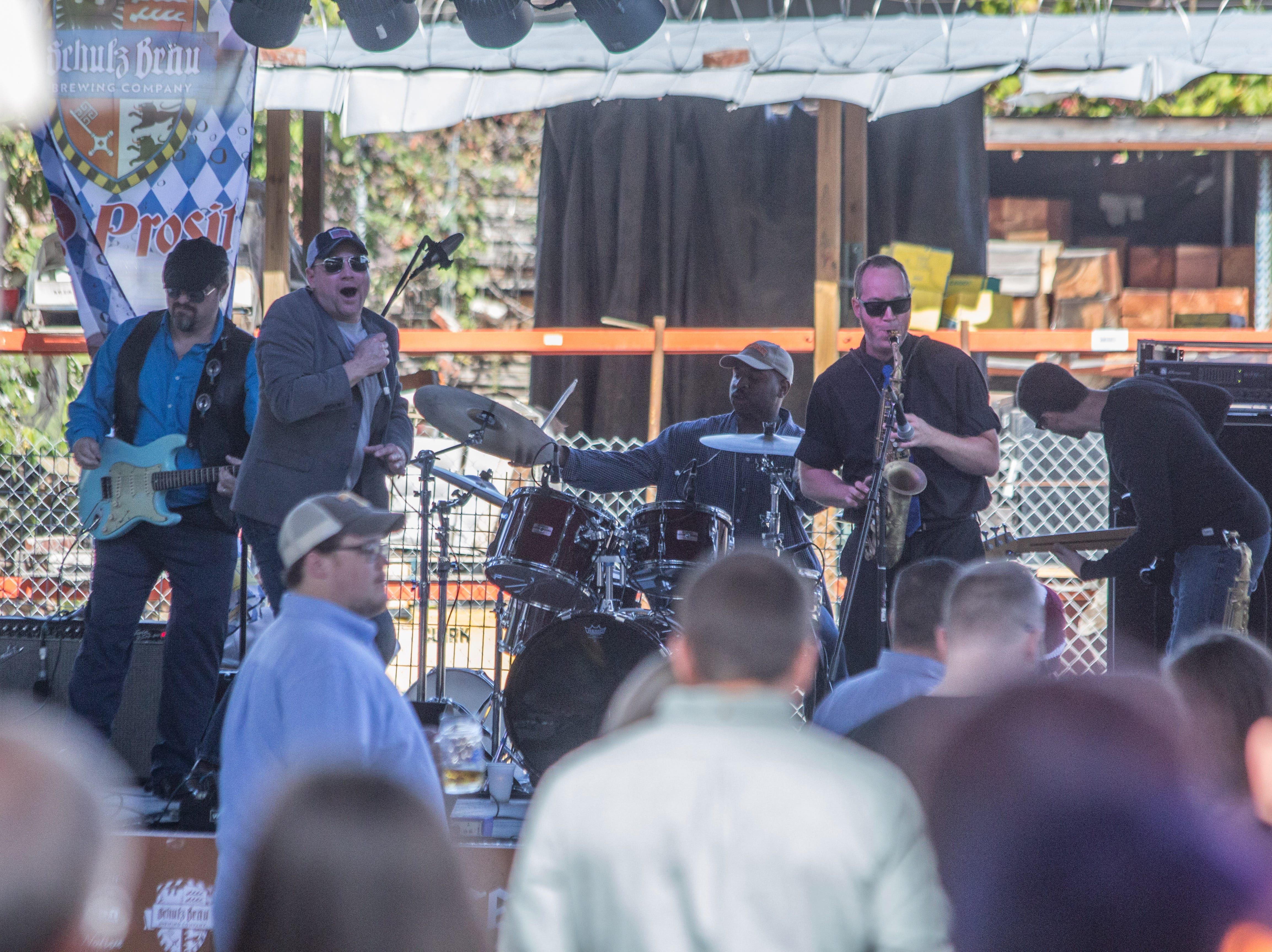 Soulfinger performs during the inaugural Old City Oktoberfest on Oct. 13, 2018.
