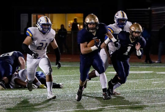 Lancaster defeated Gahanna Lincoln 31-14 Friday night, Oct. 12, 2018, at Fulton Field in Lancaster.