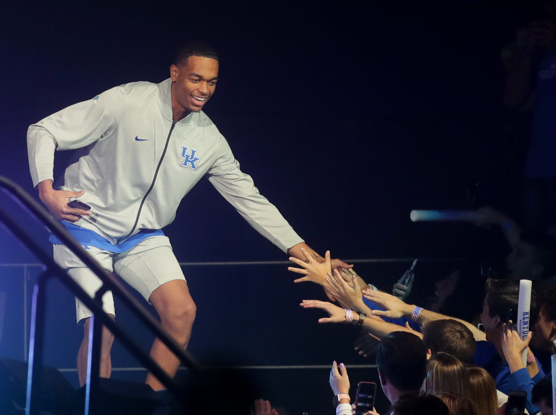 Kentucky PJ Washington is introduced at Big Blue Madness in Lexington, Kentucky.