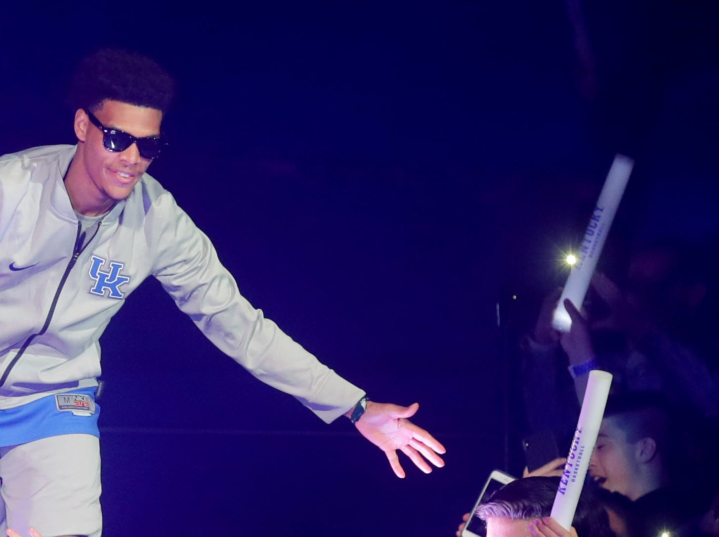 Kentucky Quade Green is introduced at Big Blue Madness in Lexington, Kentucky.