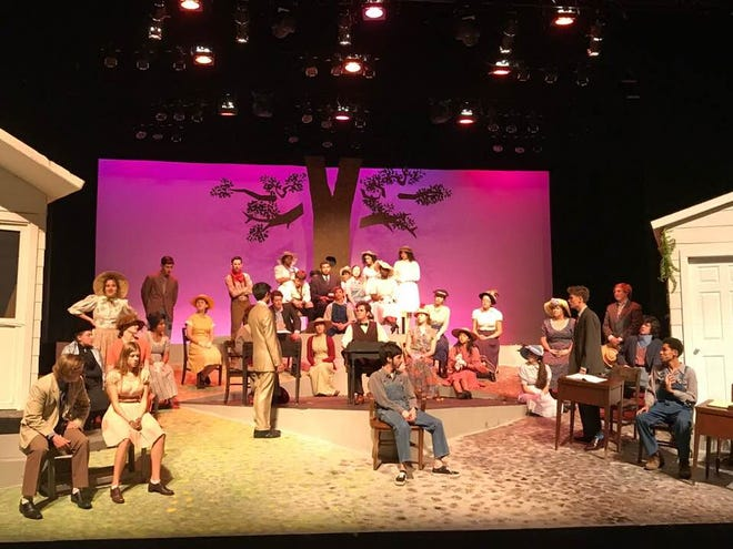 """Shorewood High School students rehearse a scene from """"To Kill a Mockingbird."""" The district canceled the production last week because of a planned protest over the use of the N-word."""