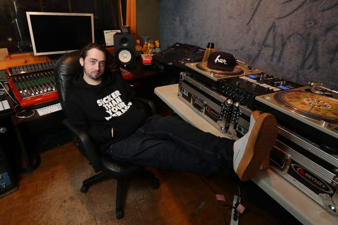 Mo Pelman, a local electronic producer by the name of Moses, will play the biggest gig of his career at the Jawbreaker Festival Oct. 28, two years to the date that he began cancer treatment. Pelman is seen in his Shorewood studio on Thursday September 20, 2018.