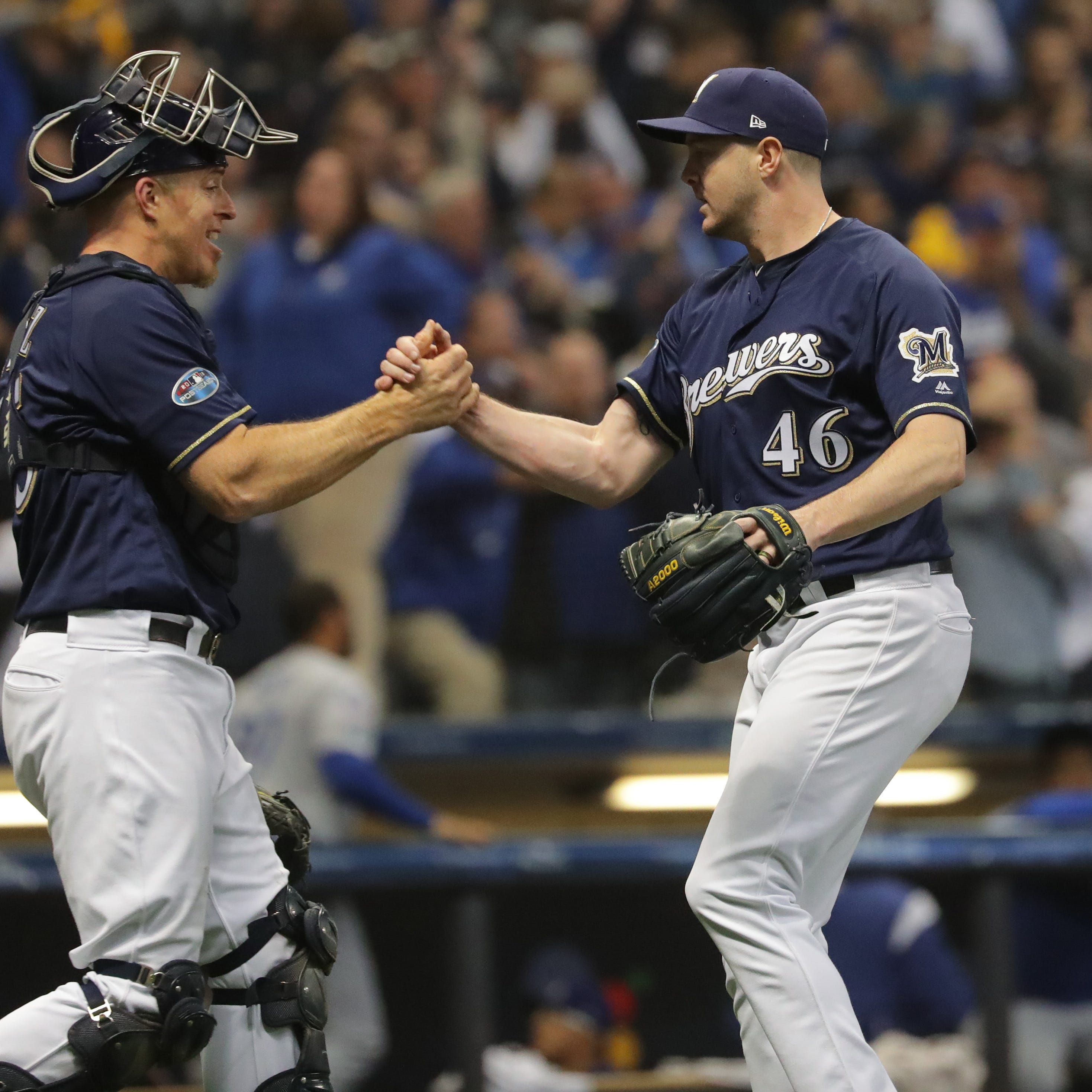 Brewers 6, Dodgers 5: Surviving some unneeded anxious moments in the end to take Game 1 of the NLCS