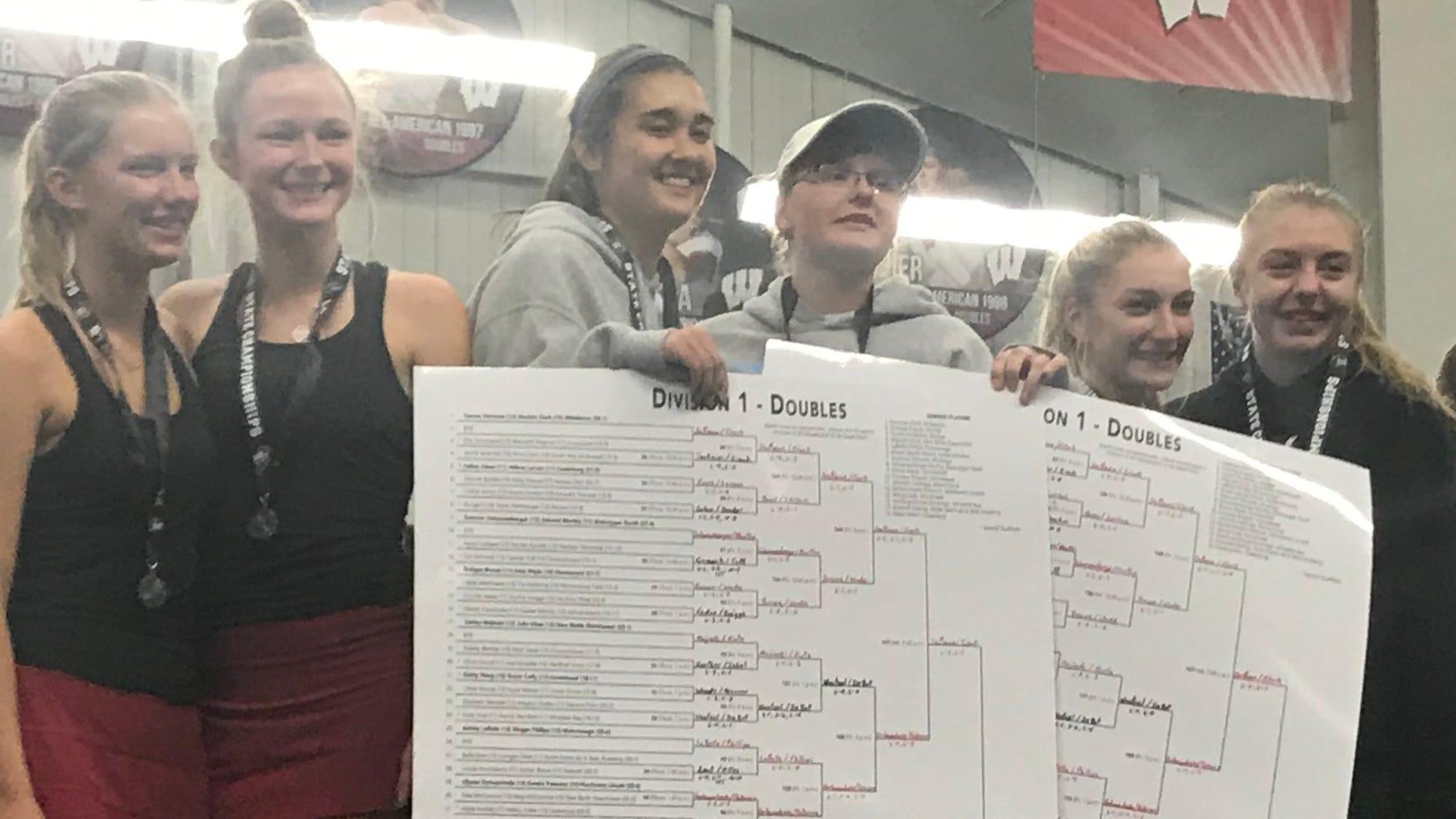 WIAA tennis: Nicolet, Kenosha St. Joseph seniors, Racine Case freshman end the season at the top of the medal stand