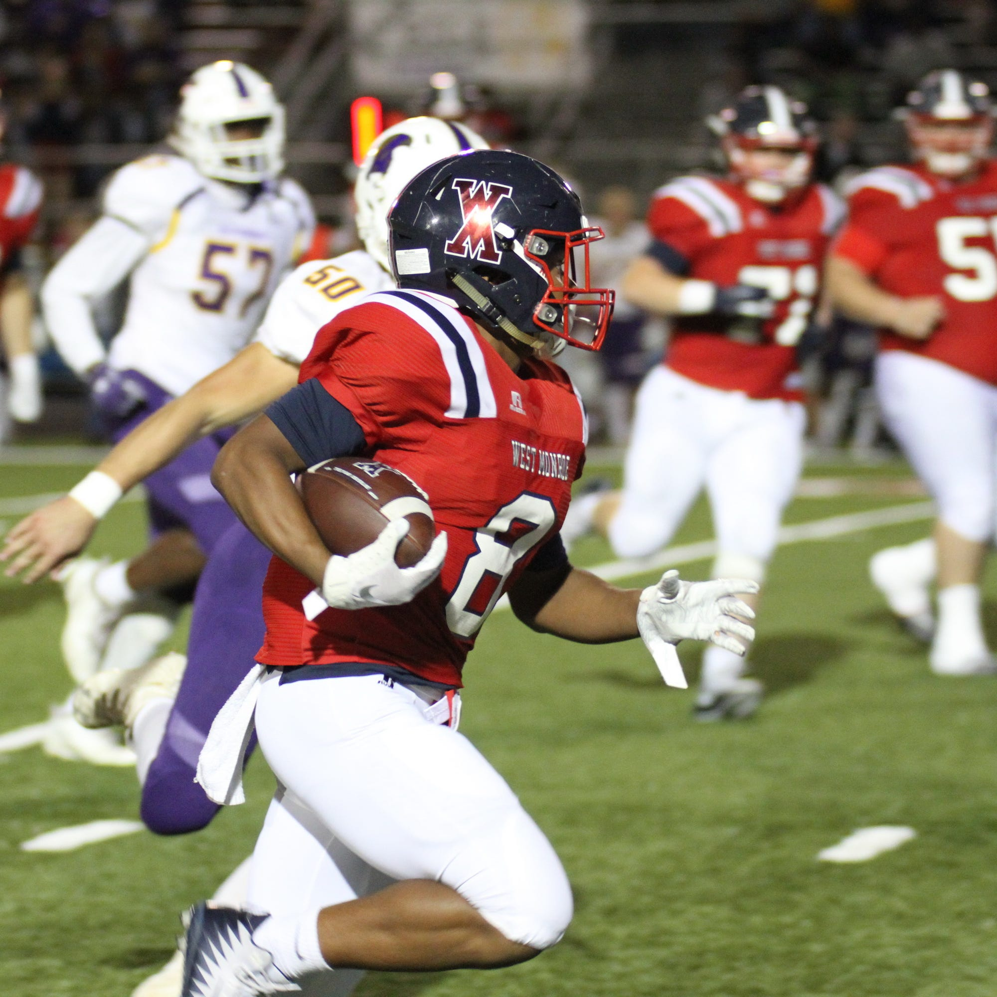 West Monroe defeats Alexandria 37-17 at West Monroe High School in West Monroe, La. on Oct. 12
