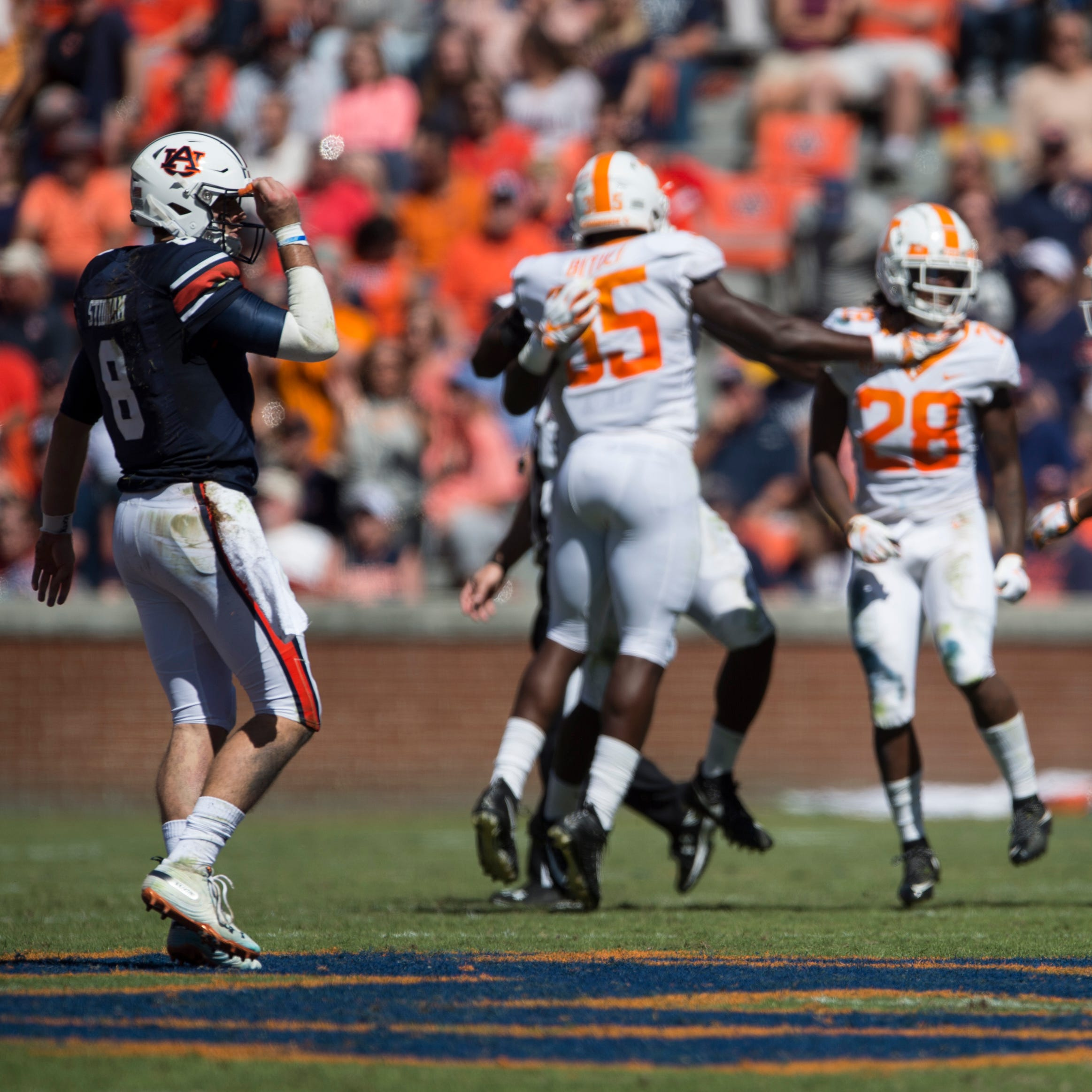 Jarrett Stidham addresses loss to Tennessee, 'outside noise' calling for Auburn to change quarterbacks