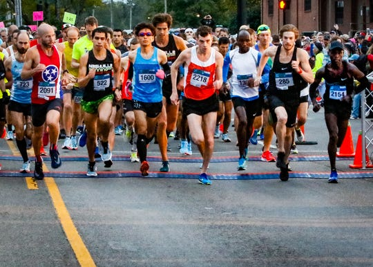 Runners compete in the Murfreesboro Half Marathon last year. The tentative date for this year's race is Oct. 12.