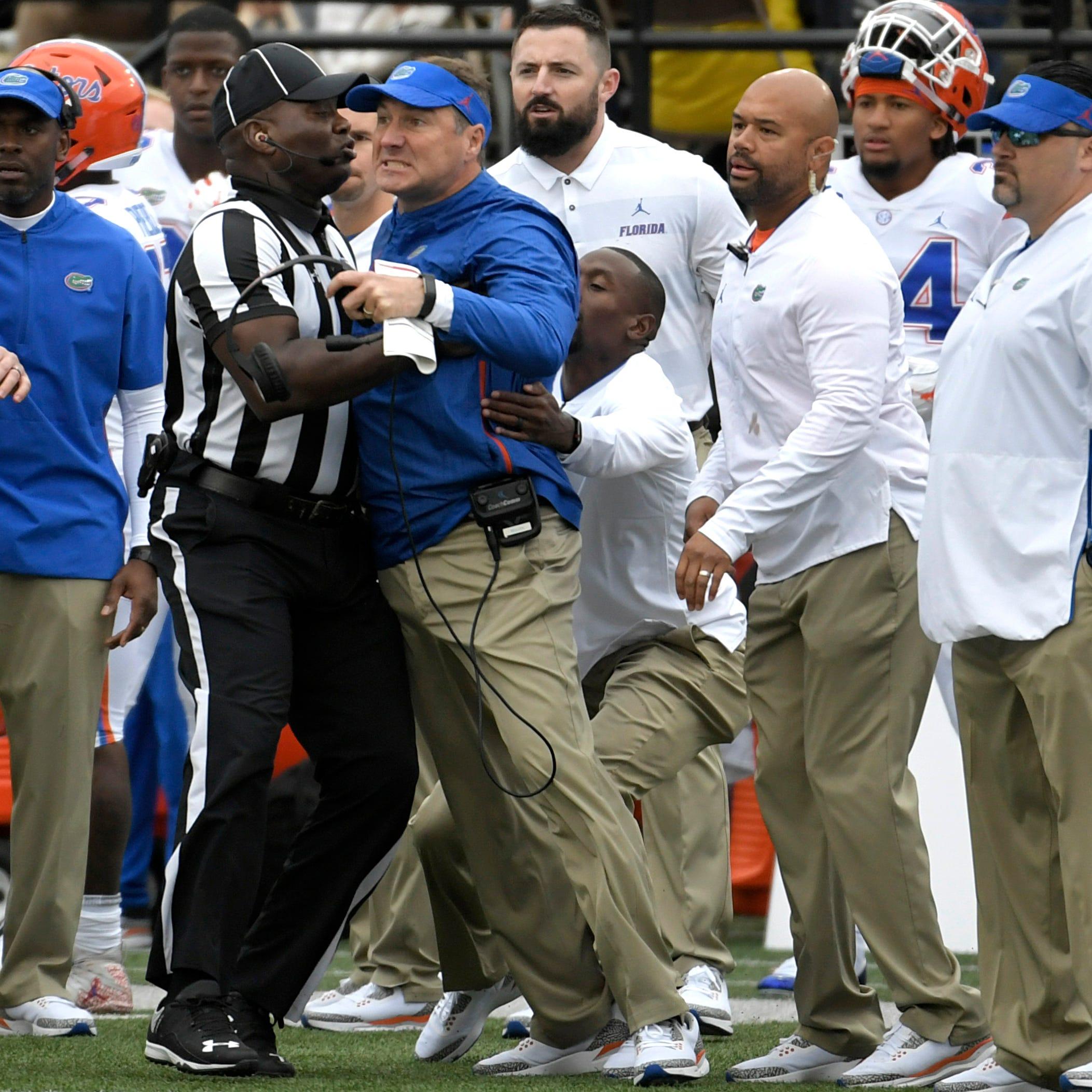 A dirty Florida hit, a near fight, another Vanderbilt football collapse in Nashville