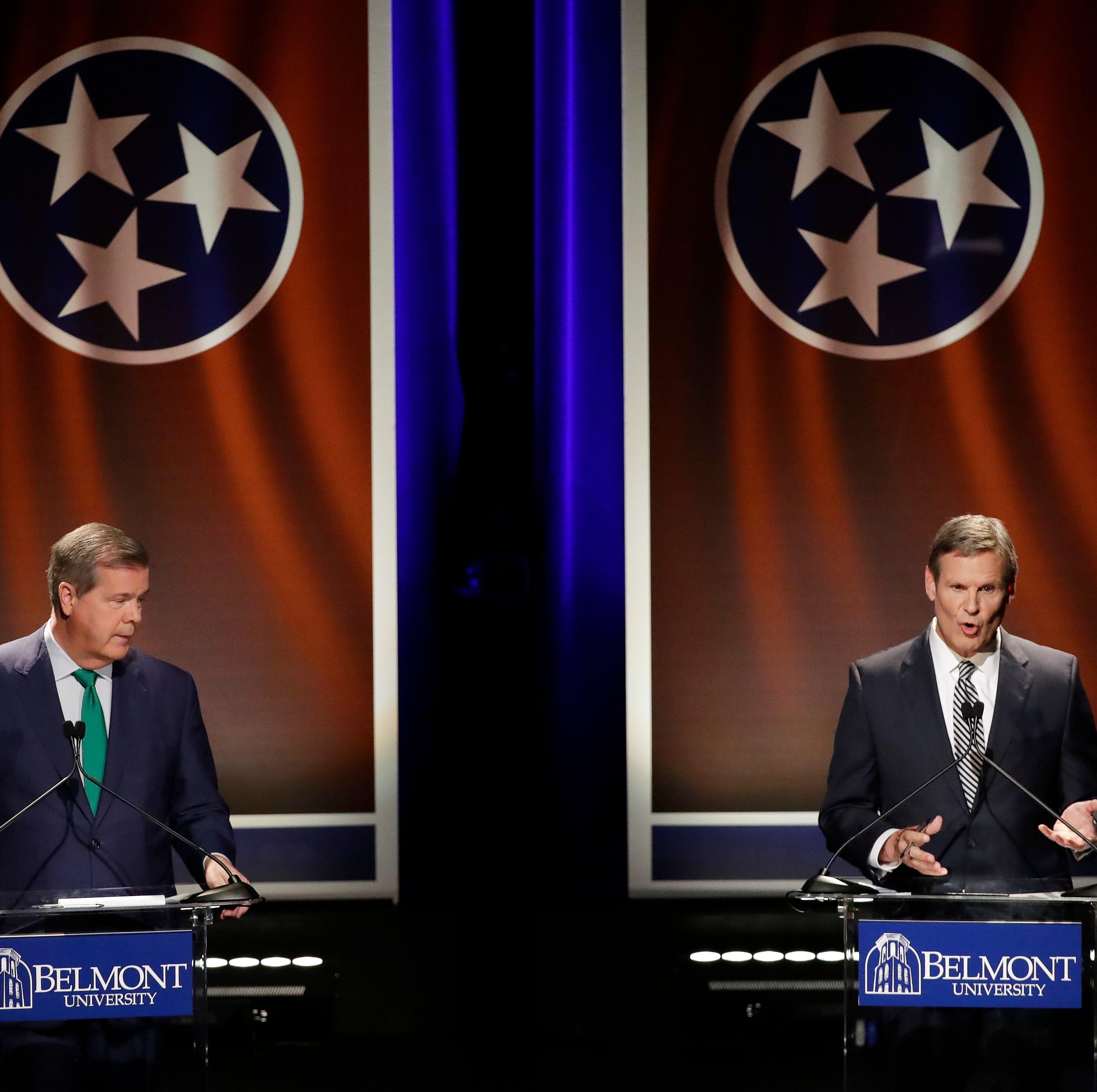 Karl Dean, Bill Lee talk medical marijuana, raising the gas tax —  and health care again