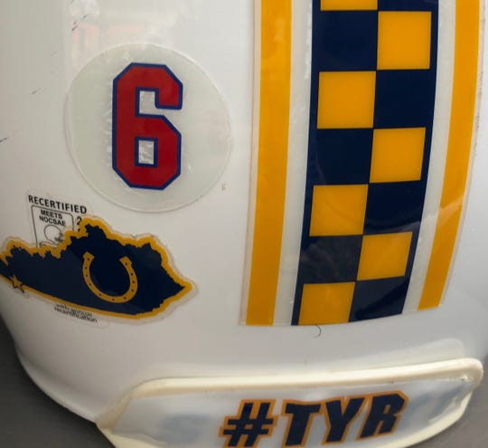 Like Tennessee State's players, Murray State's player wore No. 6 decals on the backs of their helmets as a tribute to injured Tigers linebacker Christion Abercrombie.