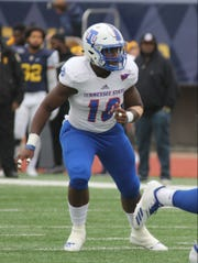 Tennessee State rreshman Terry Straughter started for the second consecutive game at middle linebacker where he replaced Christion Abercrombie, who suffered a serious head injury on Sept. 29 in a game against Vanderbilt.