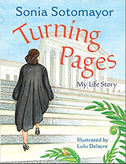 "The cover of Sonia Sotomayor's new children's book, ""Turning Pages"""