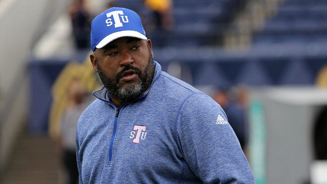 TSU coach Rod Reed watched his team lose its third straight game Saturday at Murray State.