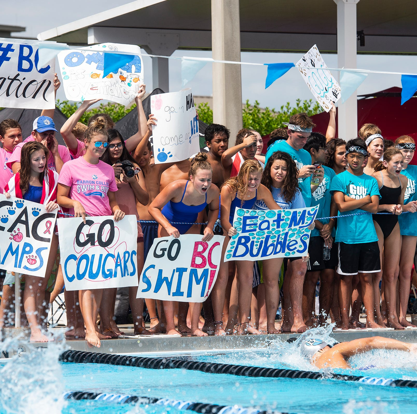 High school swimming: Barron Collier captures CCAC championship, Gulf Coast takes second