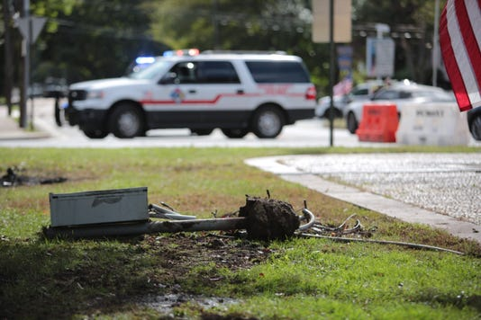 Possible Fatal Car Accident At Camp Merritt Memorial Monument Traffic Circle