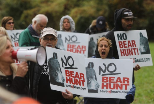 Tired protesters on the last day of the NJ Bear Hunt.
