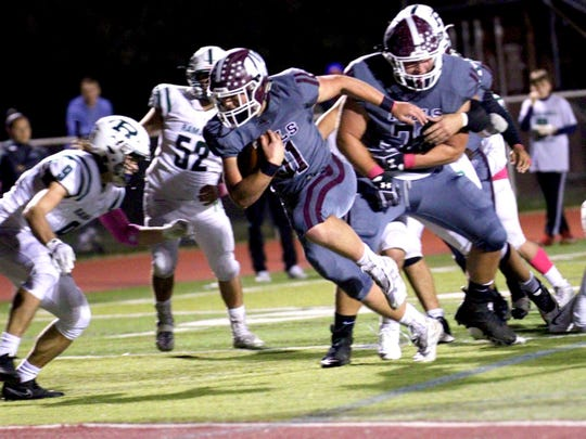 Wayne Hills' Jaaron Hayek runs against Ramapo on Friday, Oct. 12.