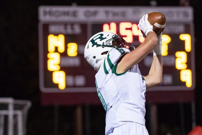 Ramapo No. 6 Ty Jaten making the touchdown catch  Friday, October 12, 2018.