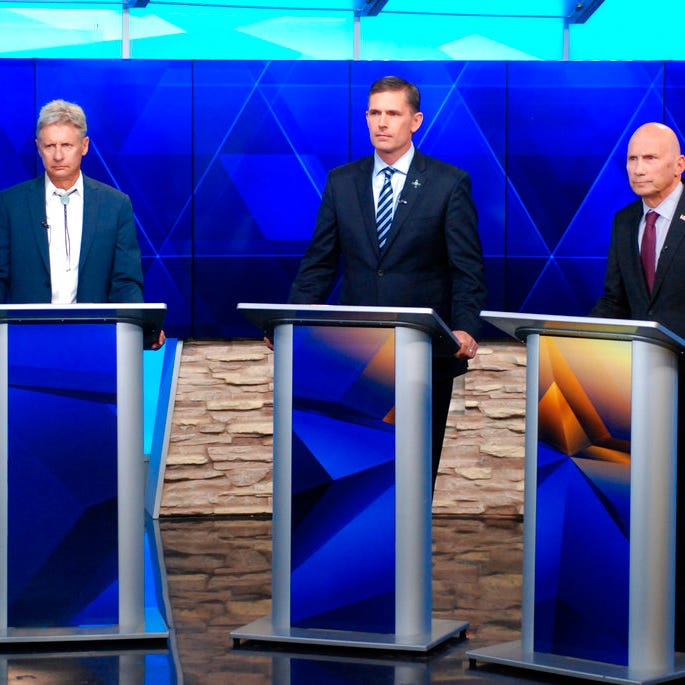 Senate candidates confront one another in feisty debate