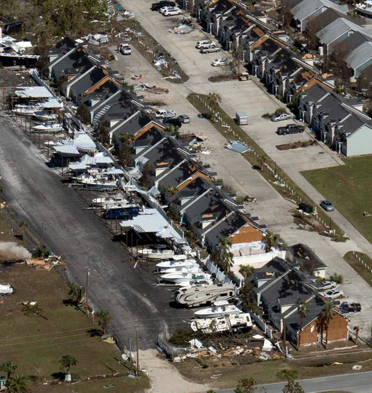 Aerials Of Hurricane Michael Damage
