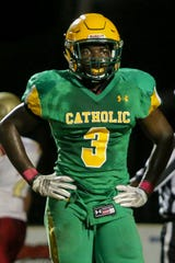 Catholic's CJ Davis (3) is one of many talented seniors from Escambia, Santa Rosa and Okaloosa Counties competing in the Subway HS All-Star Game on Dec. 13 at Blue Wahoos Stadium.