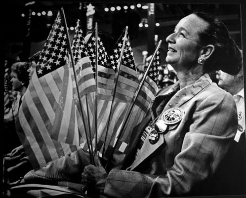 Carolyn Warner at 1984 Democratic Convention
