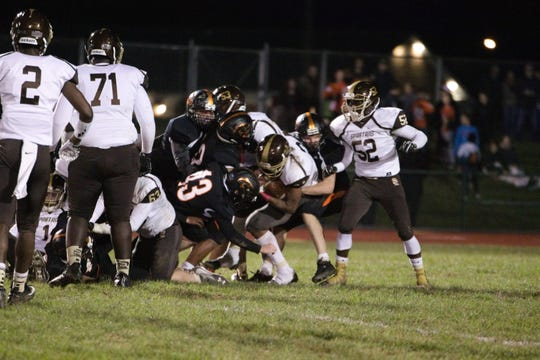 The Palmyra defense will have a tough task on its hands when it takes on Warwick in the district playoffs on Friday night.