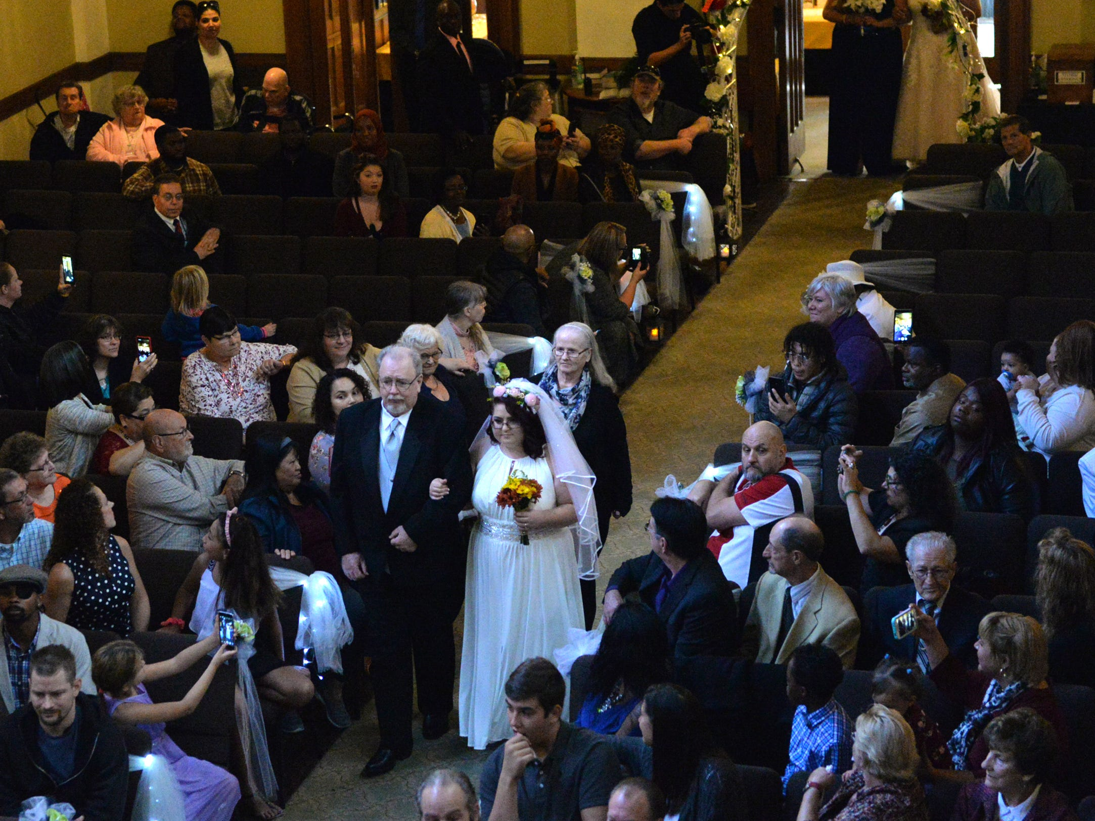 Fifteen couples were joined in marriage during One Big Wedding at Calvary Chapel in Lebanon, PA on October 13, 2018.