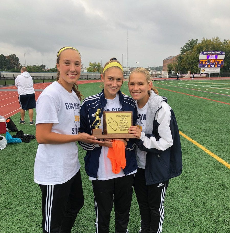 Elco rides Shuey's hat trick to rare L-L playoff win