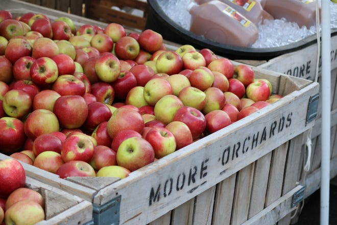 Apples were available on every corner downtown at the 40th annual Oak Harbor Apple Festival.