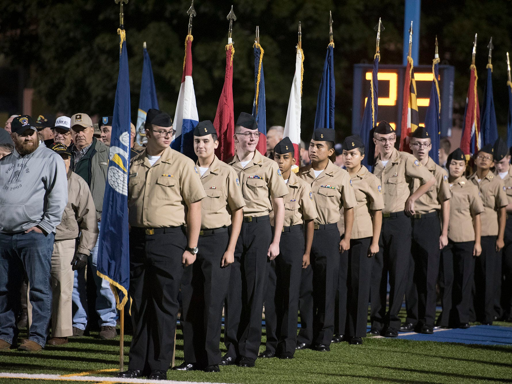 Military appreciation night was held at Trojan Stadium. Chambersburg dropped a 28-13 game against Harrisburg in PIAA football on Friday, Oct. 12, 2018.