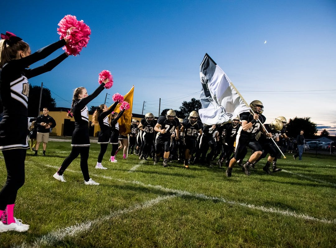 Delone Catholic takes the field before taking on Fairfield.