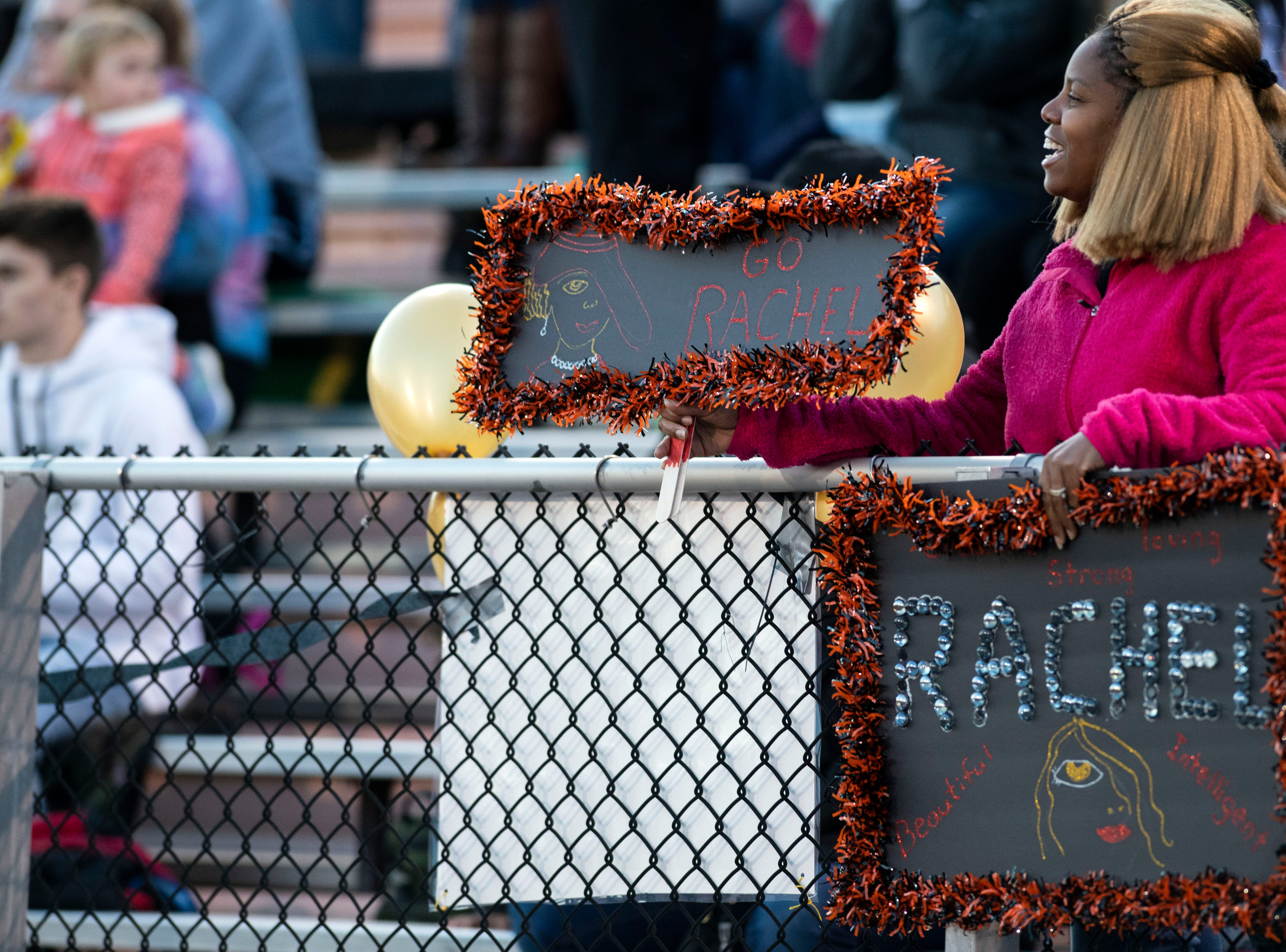 A fan cheers on a homecoming court member prior to a YAIAA Division I football game at Northeastern High School on Friday, Oct. 12, 2018. The Central York Panthers beat the Northeastern Bobcats, 44-7.