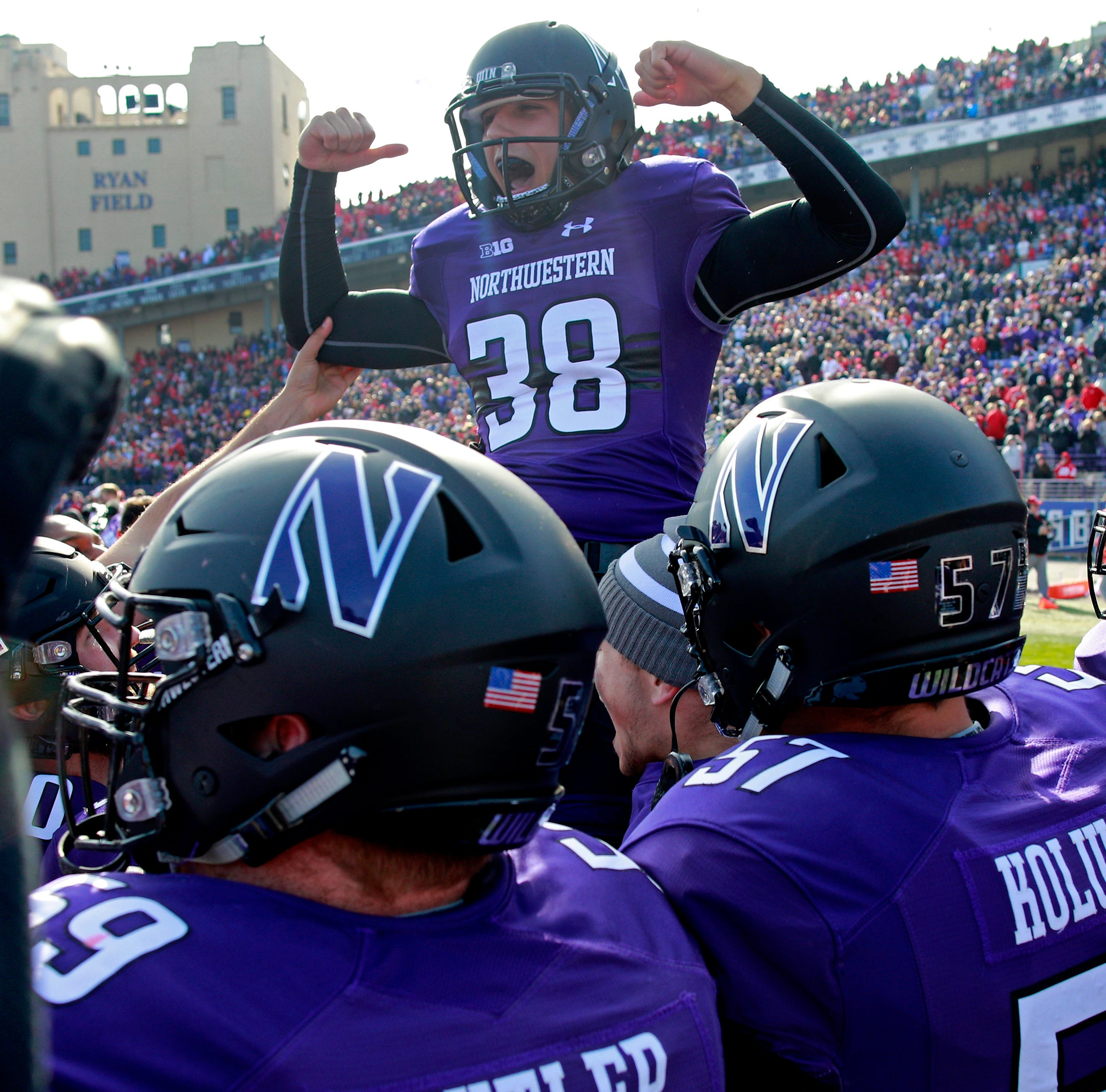 Spring Grove grad wins OT game for Northwestern football; named player of week