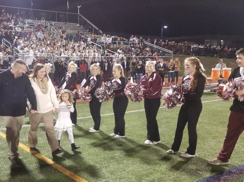 Gettysburg held homecoming festivities during halftime of Friday's game.