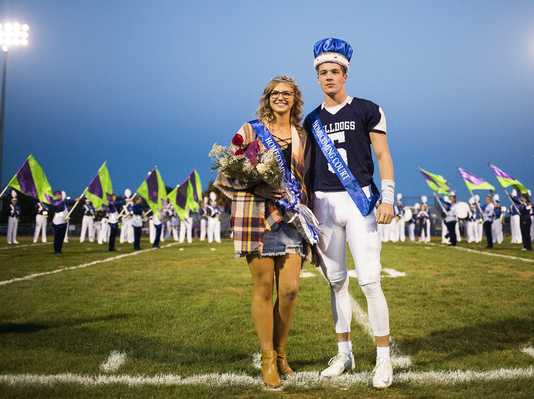 West York Area High School homecoming queen Taylor Haroldson and king Andrew LaManna. West York plays Kennard-Dale in football at West York Area High School in West York, Friday, October 12, 2018.