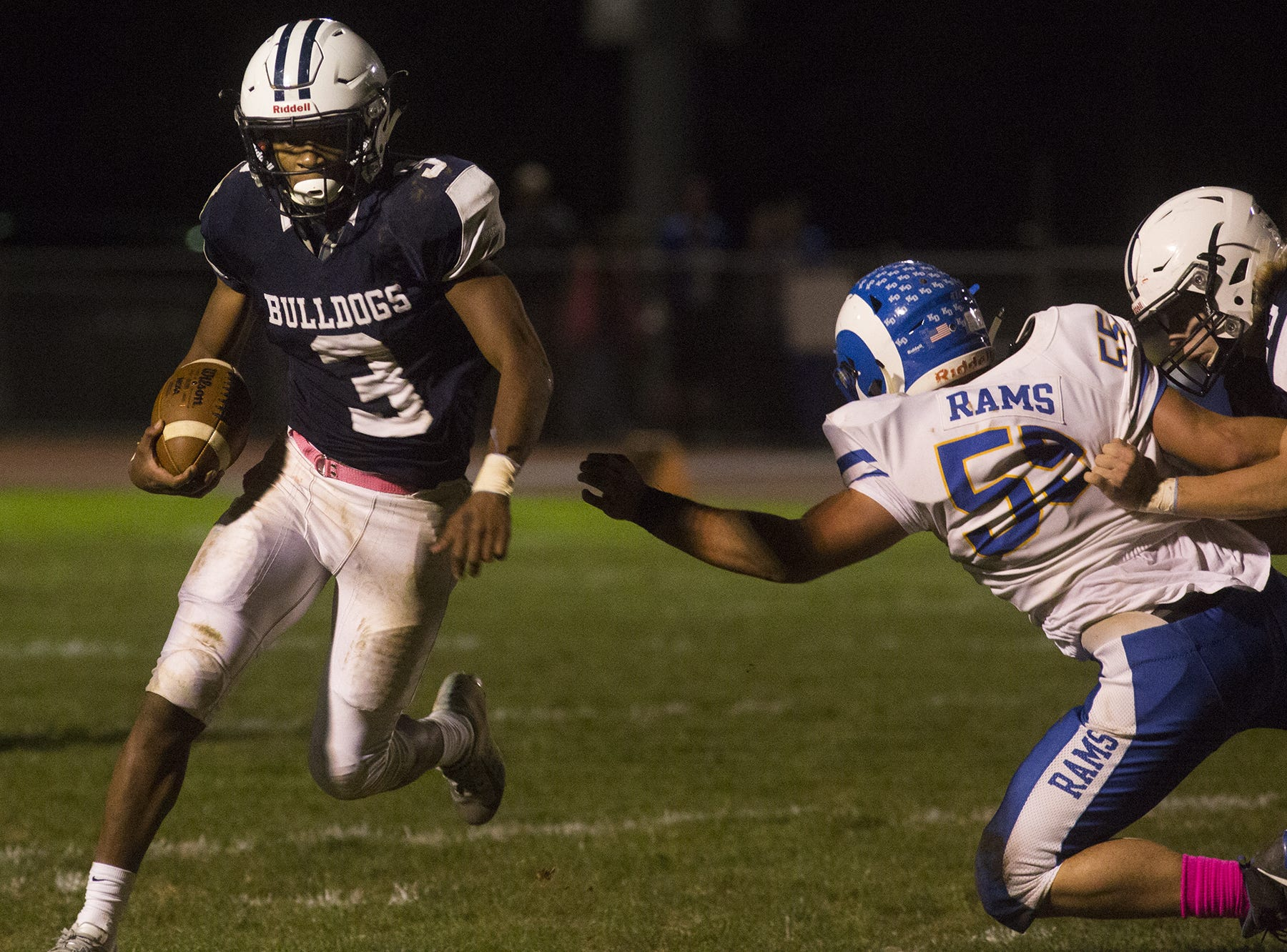 West York's Ay'Jaun Marshall runs the ball. West York defeats Kennard-Dale 32-21 in football at West York Area High School in West York, Friday, October 12, 2018.