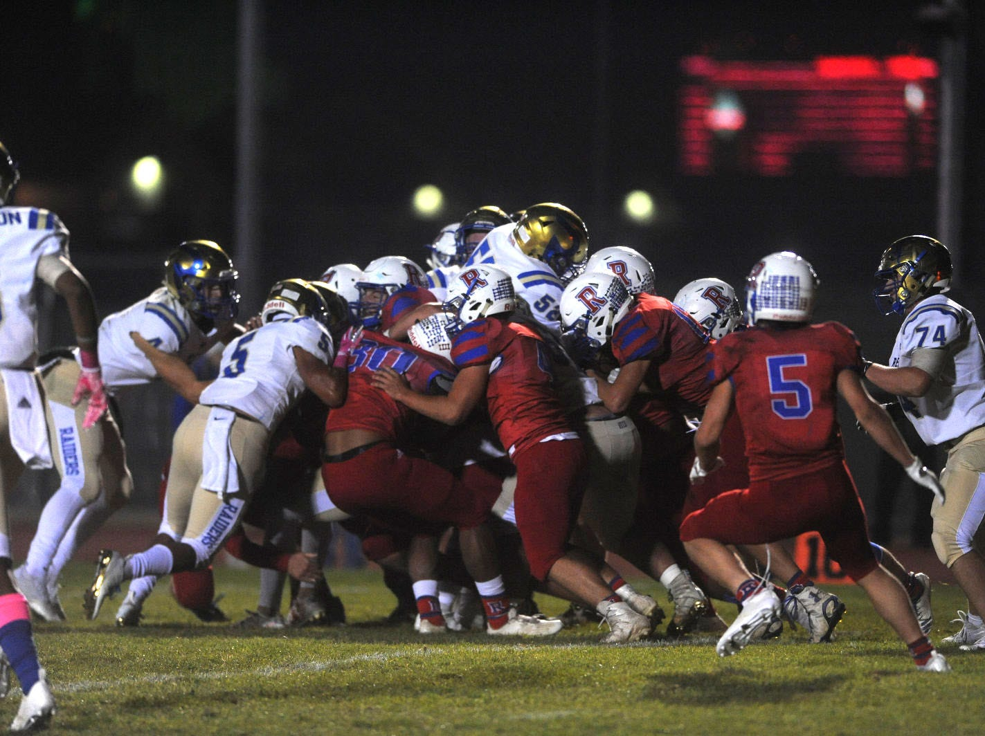 Reno takes on Reed during their football game at Reno on Oct. 12, 2018.