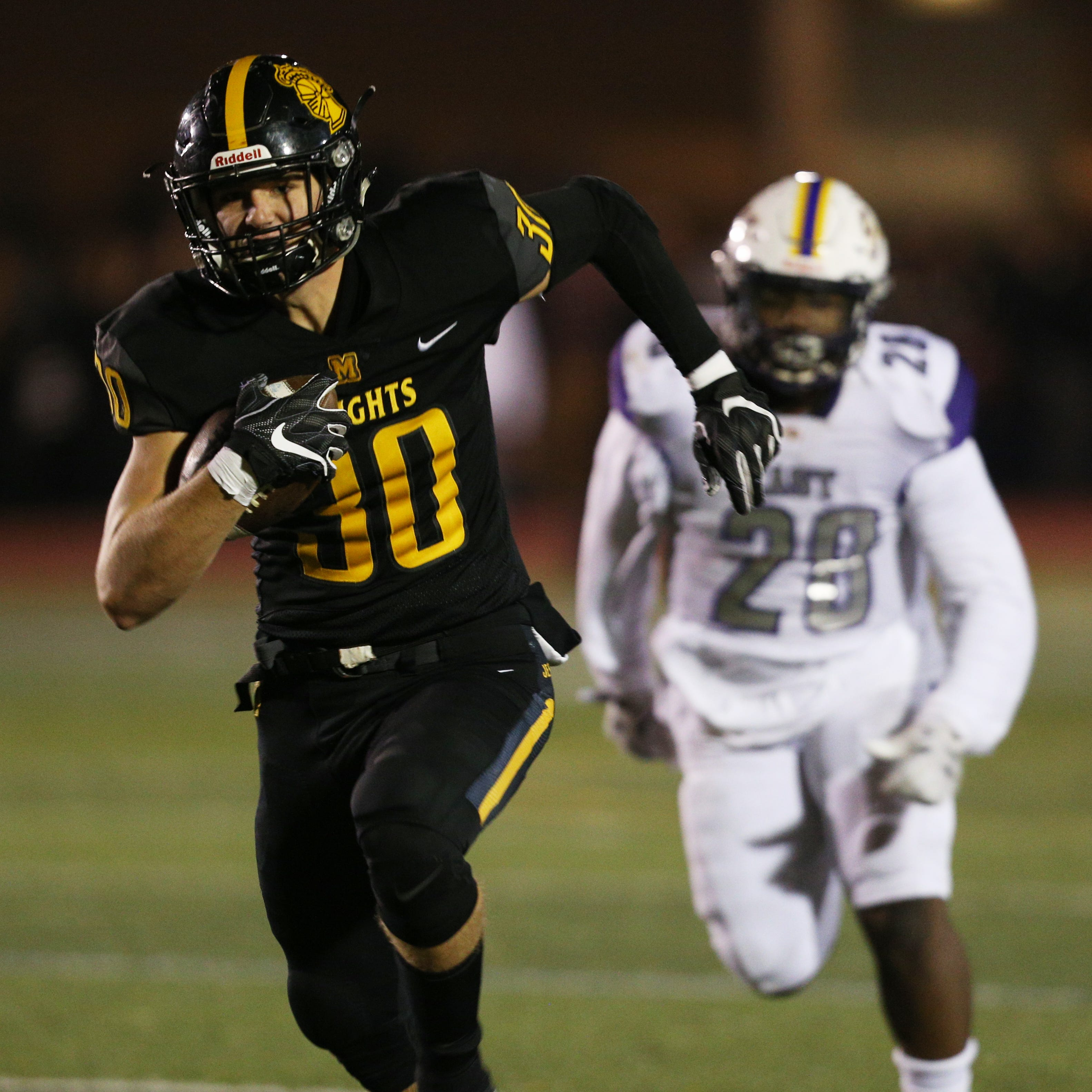 Big-play offense carries McQuaid to fourth straight RCAC title