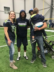 The Schwerdt family meets Seahawks receiver Tyler Lockett, whom their son is named after.