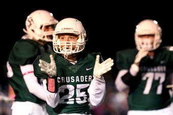 Salem Academy football defeats Blanchet Catholic School, 35-21, at home on Friday, Oct. 12.