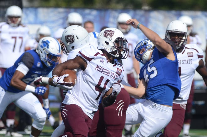 Missouri State's Matt Rush returns a punt during the Bears' 29-26 thrilling victory over Indiana State in Terre Haute, Indiana.