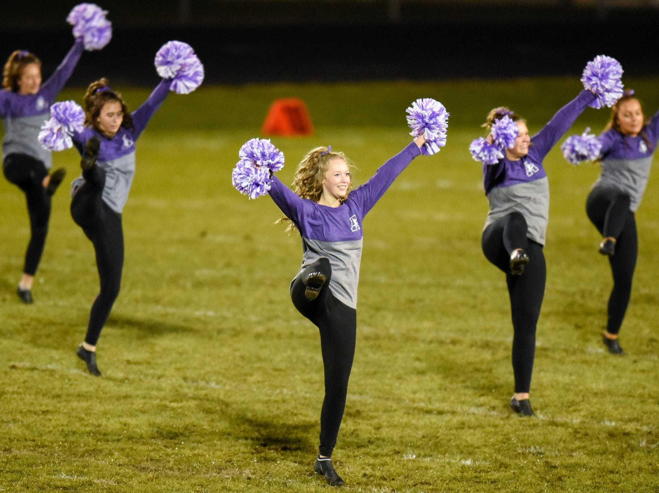 The Albany dance team performs during halftime Friday, Oct. 12, in Albany.