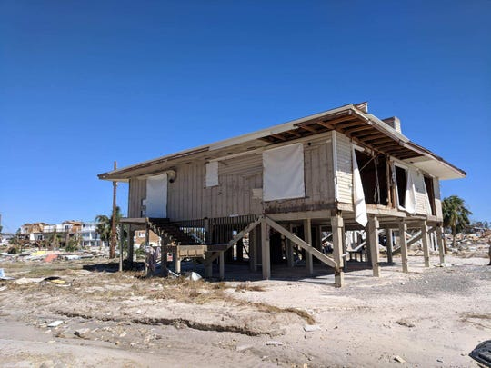 Nick and Anne Bert's beach house on Mexico Beach was ravaged by Hurricane Michael.