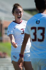Midfielder Megan Connelly was one of eight seniors honored at Saturday's FSU match.