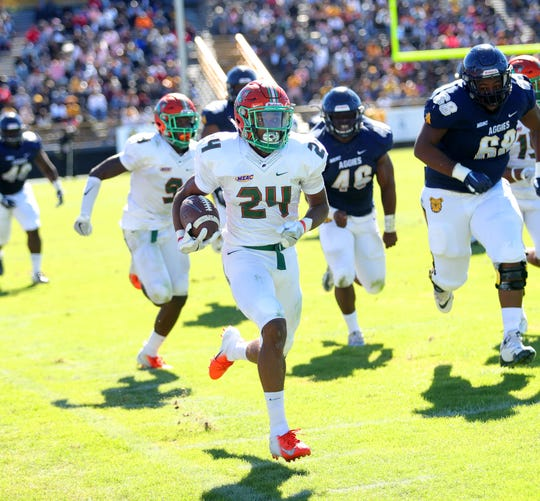 FAMU defensive back Herman Jackson returned a fumble 55 yards for a touchdown. His play helped the Rattlers to a 22-21 win over N.C. A&T.